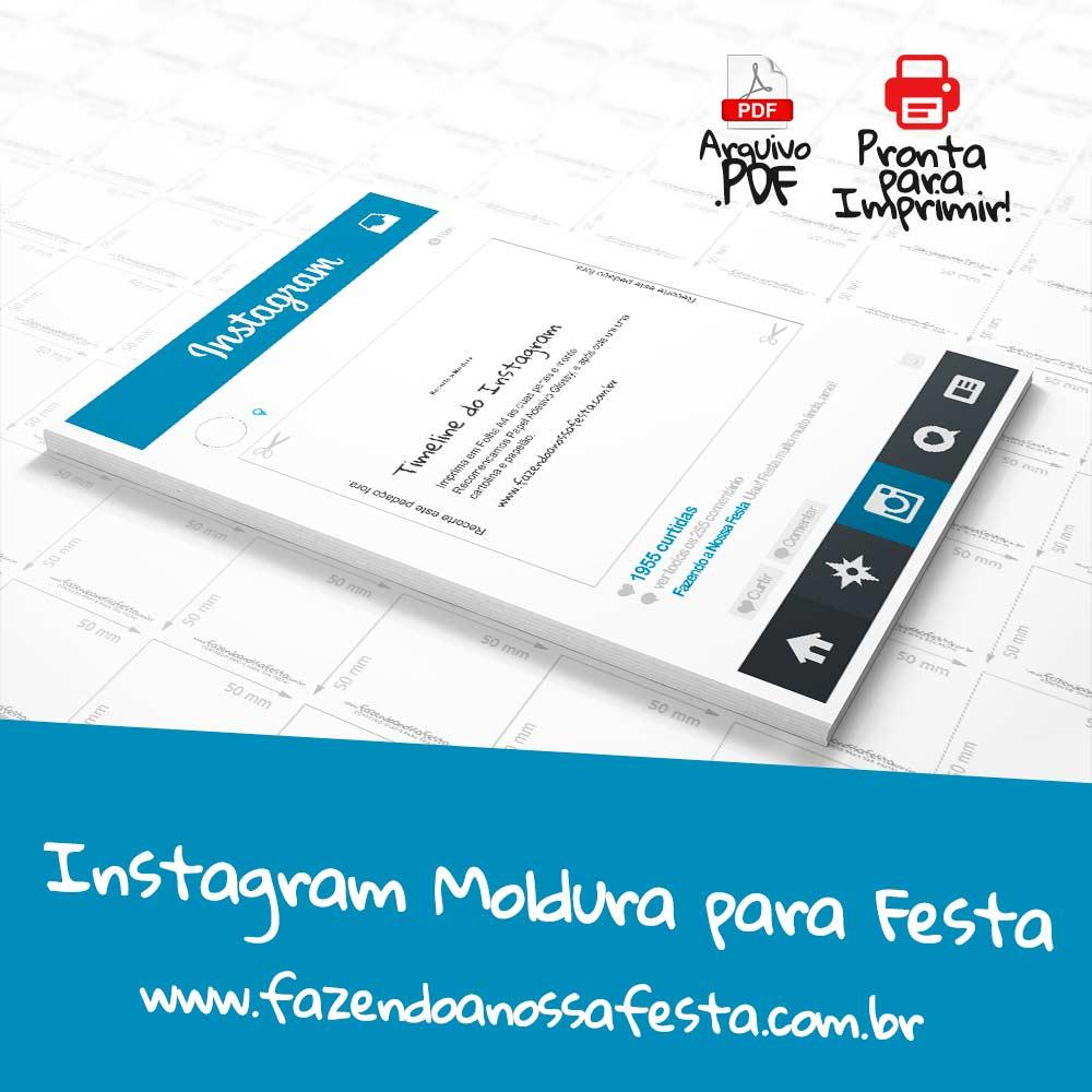 Instagram Moldura para Festa Pronta para Imprimir