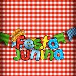 Kit Festa Junina Vermelho e Branco Cartão