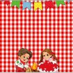 Kit Festa Junina Vermelho e Branco