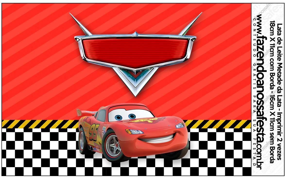 Lata de Leite Carros Disney