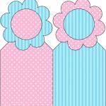Marcador de Páginas Azul e Rosa
