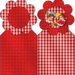 Marcador de Páginas Kit Festa Junina Vermelho e Branco