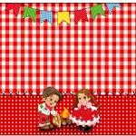 Marmita 250g Kit Festa Junina Vermelho e Branco