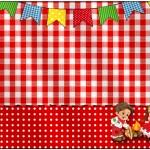 Marmita Kit Festa Junina Vermelho e Branco