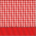Mini Confeti Fundo Xadrez Vermelho e Poá