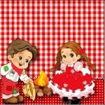 Mini Confeti Kit Festa Junina Vermelho e Branco