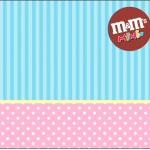 Mini M&M Azul e Rosa