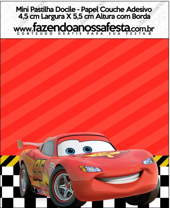 Mini Pastilha Docile Carros Disney