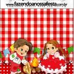 Mini Pastilha Docile Kit Festa Junina Vermelho e Branco