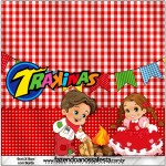Mini Trakinas Kit Festa Junina Vermelho e Branco