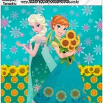 Molde Quadrado Frozen Fever Cute