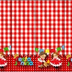 Nescauzinho Kit Festa Junina Vermelho e Branco