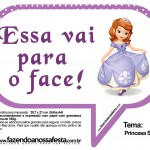 Plaquinhas Divertidas Princesa Sofia 4