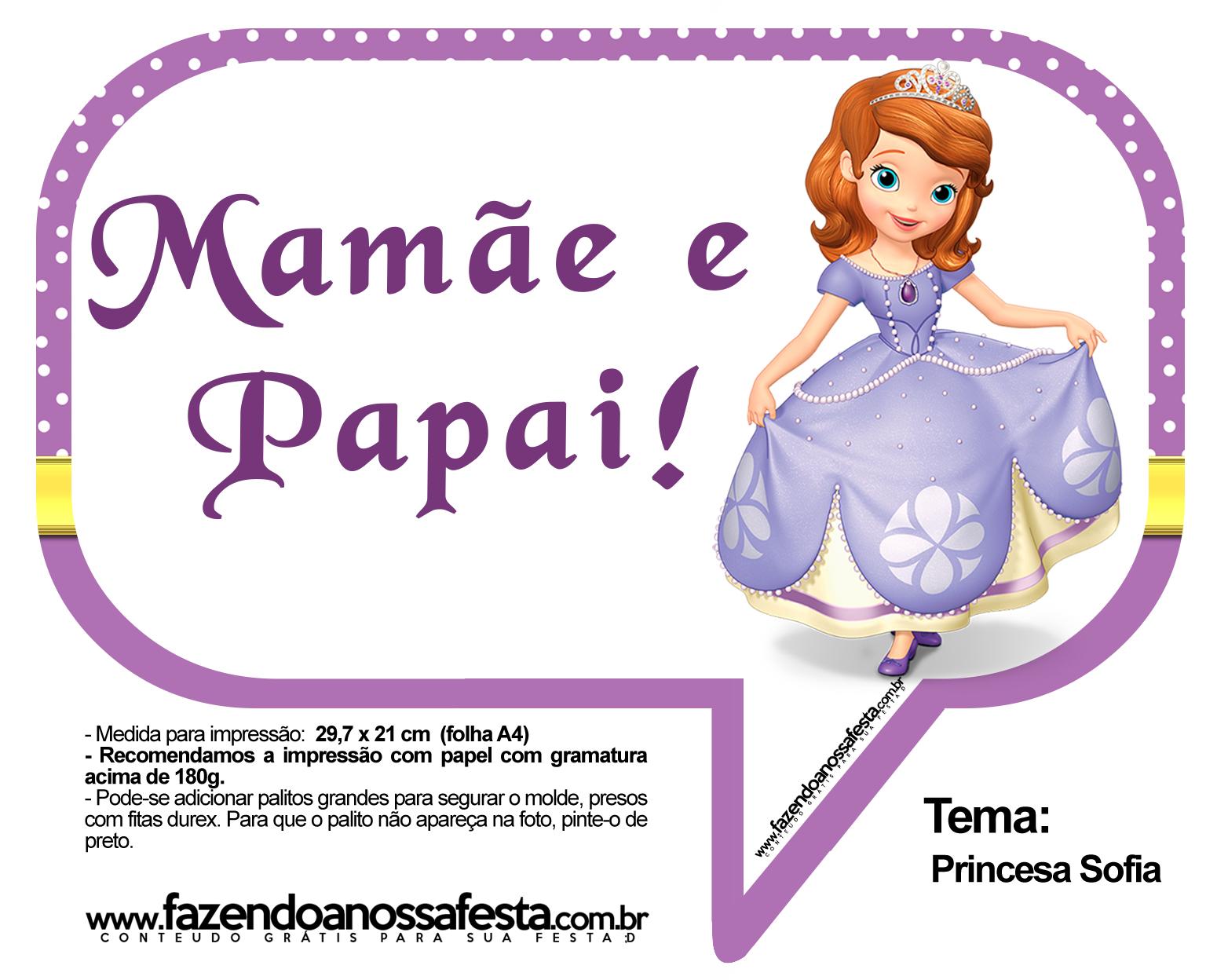 Plaquinhas Divertidas Princesa Sofia 16