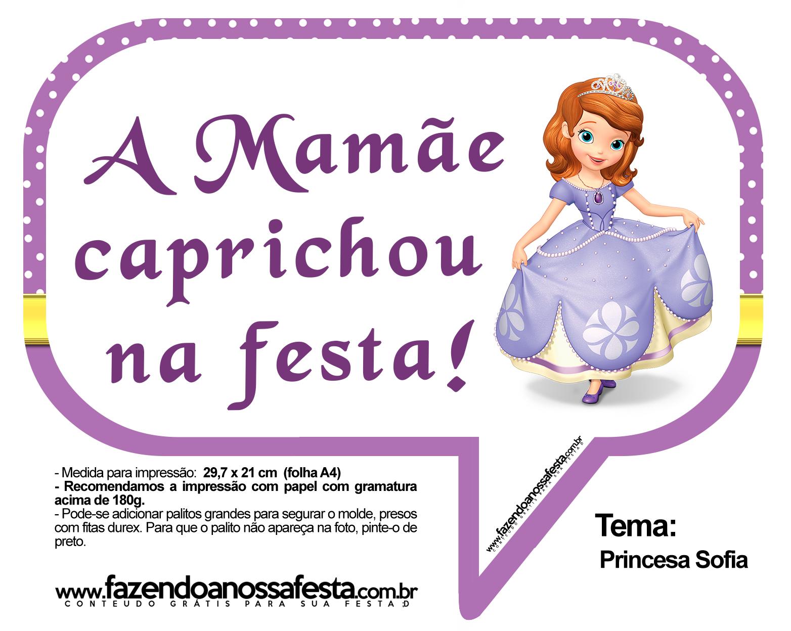 Plaquinhas Divertidas Princesa Sofia 17