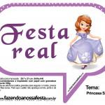 Plaquinhas Divertidas Princesa Sofia 18