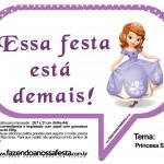 Plaquinhas Divertidas Princesa Sofia 25