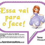 Plaquinhas Divertidas Princesa Sofia 30