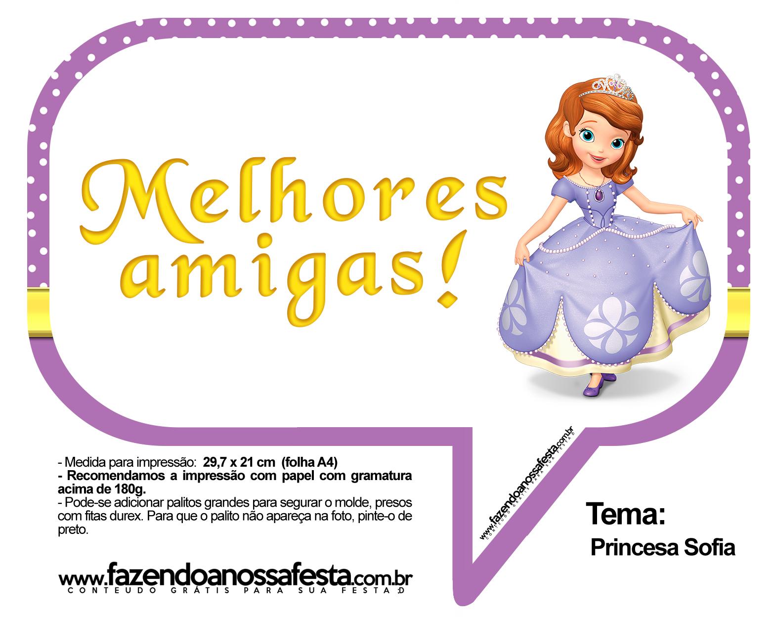 Plaquinhas Divertidas Princesa Sofia 36