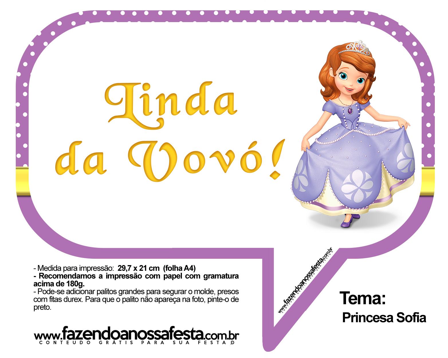 Plaquinhas Divertidas Princesa Sofia 38