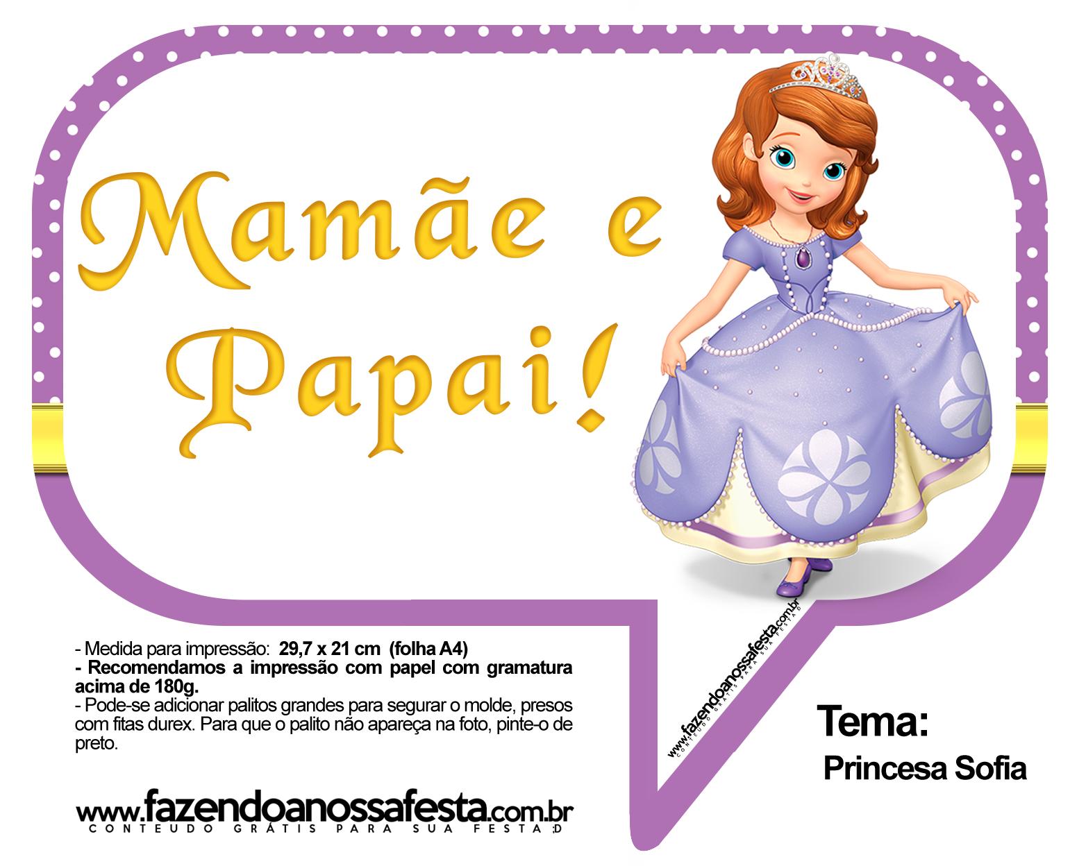 Plaquinhas Divertidas Princesa Sofia 41
