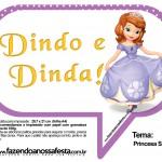 Plaquinhas Divertidas Princesa Sofia 45