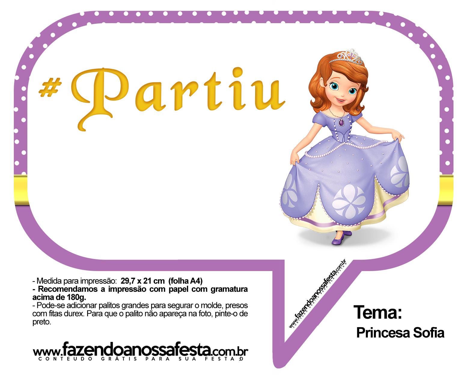 Plaquinhas Divertidas Princesa Sofia 51