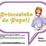 Plaquinhas Divertidas Princesa Sofia 60