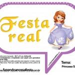 Plaquinhas Divertidas Princesa Sofia 67