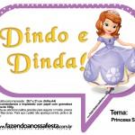 Plaquinhas Divertidas Princesa Sofia 69