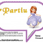 Plaquinhas Divertidas Princesa Sofia 75