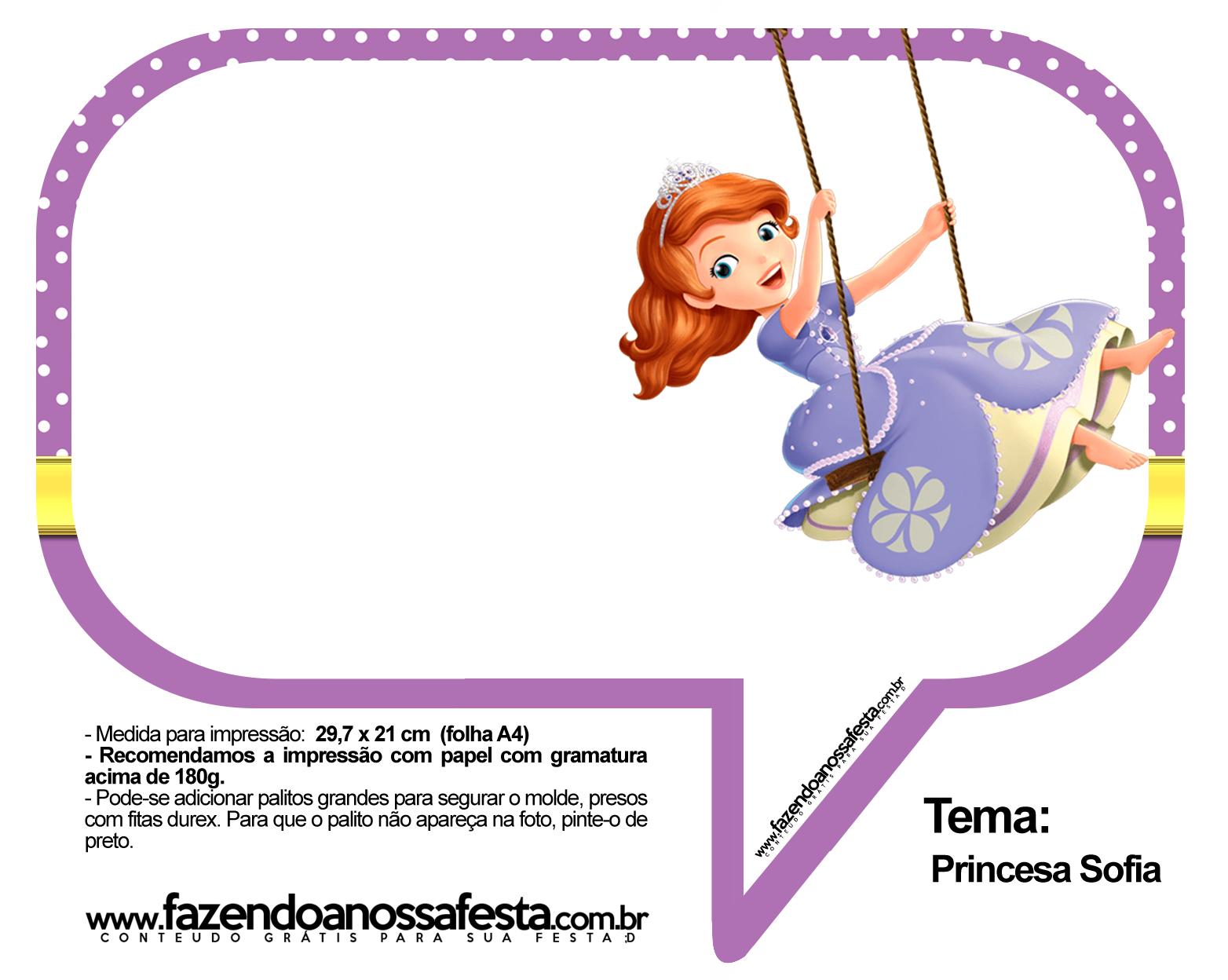 Plaquinhas Divertidas Princesa Sofia 76