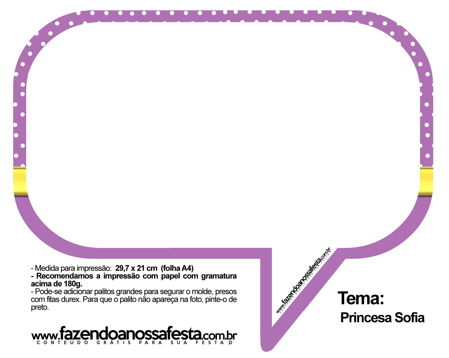 Plaquinhas Divertidas Princesa Sofia 77