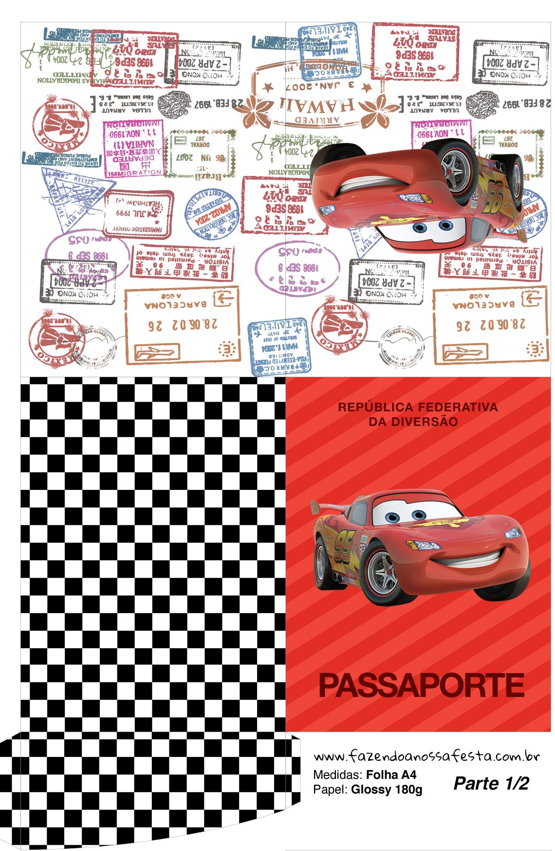 Passaporte Carros Disney