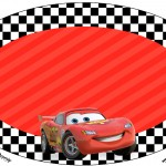 Placa Elipse Carros Disney