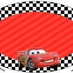 Placa Elipse Carros Disney