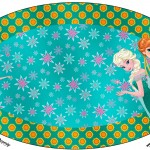 Placa Elipse Frozen Fever Cute