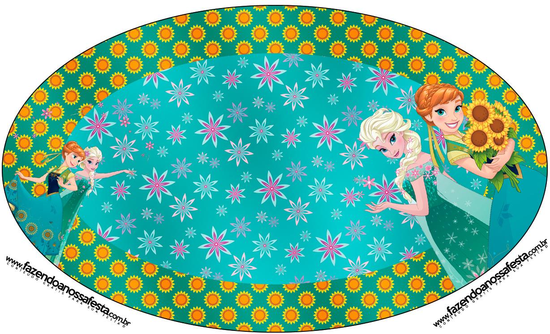 Placa Elipse Frozen Fever Cute