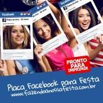 Placa Facebook Timeline para Festa