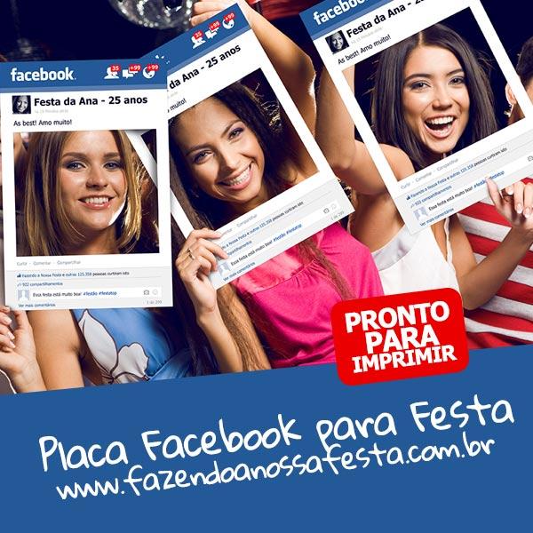 Placa Facebook Timeline para Imprimir