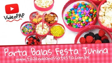 Porta Balas com Garrafas Pet para Festa Junina