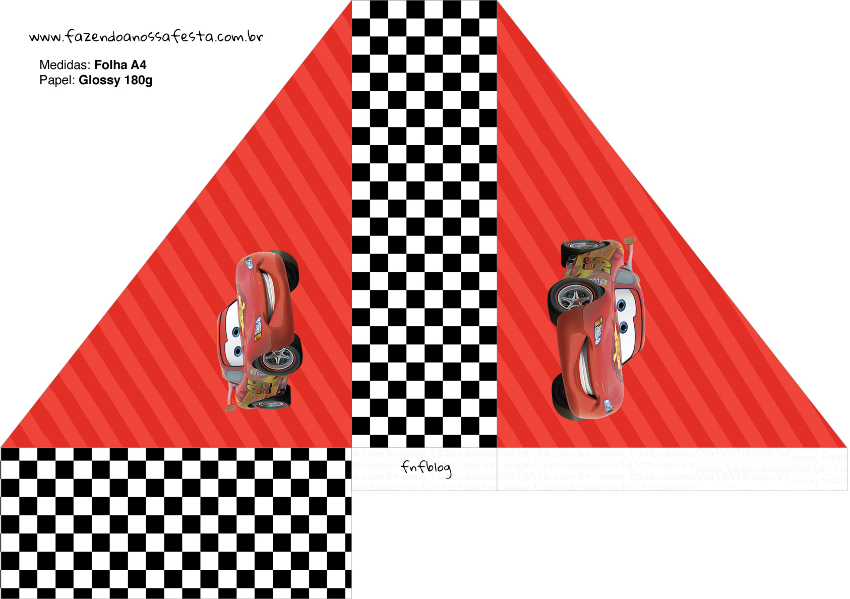 Porta Guardanapos Carros Disney