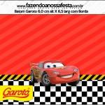 Rótulo Batom Garoto Carros Disney