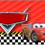 Rótulo Caixa Bombom Carros Disney
