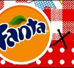 Rótulo Fanta Kit Festa Junina Vermelho e Branco