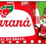 Rótulo Guaraná Caçulinha Kit Festa Junina Vermelho e Branco