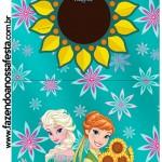 Rótulo Pirulito Frozen Fever Cute