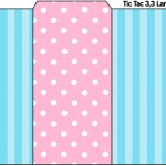 Rótulo Tic Tac Azul e Rosa