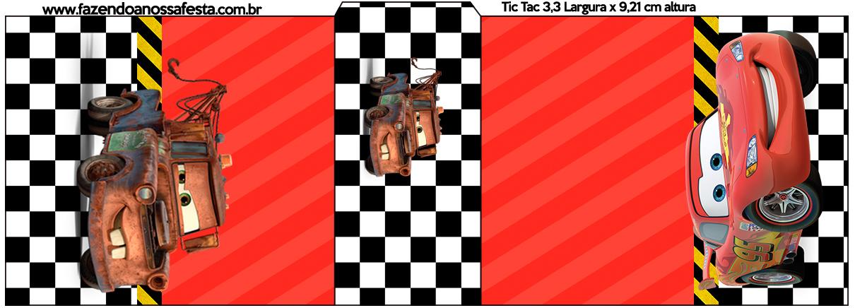 Rótulo Tic Tac Carros Disney