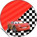 Rótulo para Topper de docinho Carros Disney